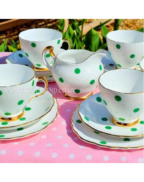 (OUT OF STOCK) ROYAL VALE POLKA DOT TEA SET